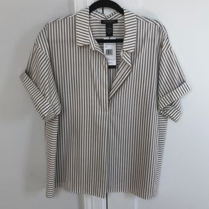 Lafayette 148 New with tags V-neck blouse